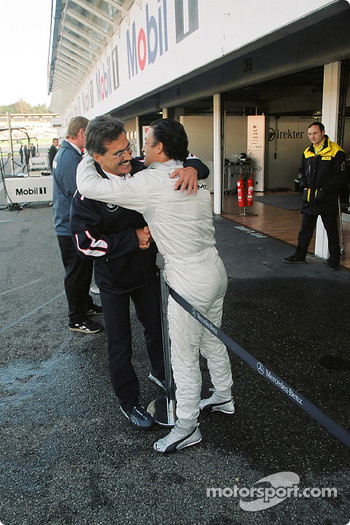 Dr Mario Theissen and Jean Alesi