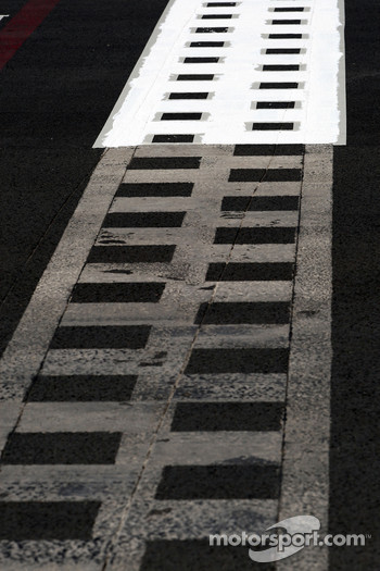 Painting the start - finish line