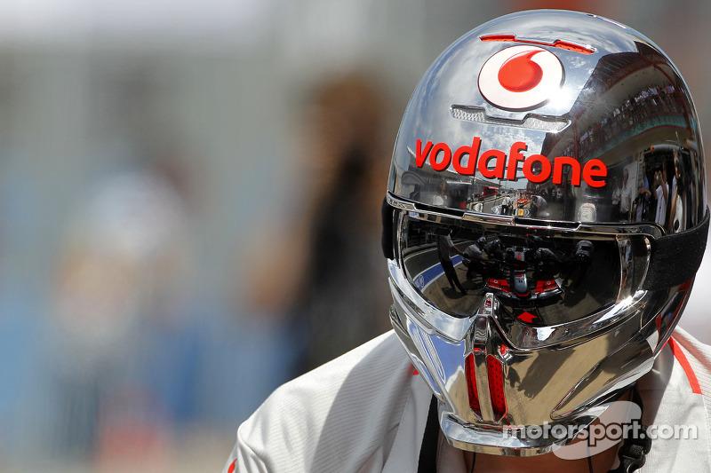 Lewis Hamilton, McLaren Mercedes, reflection