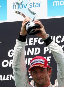 Podium: third place Jenson Button, McLaren Mercedes