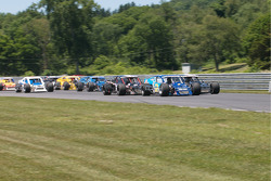 Heading for turn one