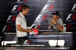 Jenson Button, McLaren Mercedes, Mark Webber, Red Bull Racing