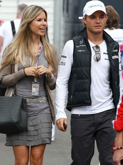 Vivian Sibold the girlfriend of Nico Rosberg and Nico Rosberg, Mercedes GP