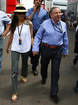 Michelle Yeoh, ex. James Bond girl, actor, Girlfriend of Jean Todt and Jean Todt, FIA president