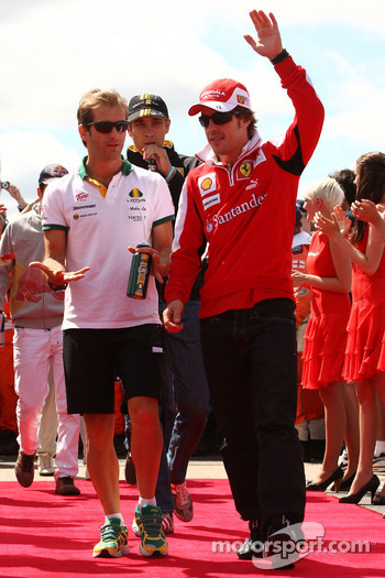 Jarno Trulli, Lotus F1 Team with Fernando Alonso, Scuderia Ferrari