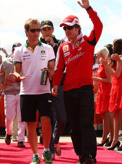 Jarno Trulli, Lotus F1 Team with Fernando Alonso, Scuderia Ferrari