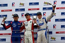 Podium from left: Daisuke Nakajima, Daniel Mckenzie and Adriano Buzaid