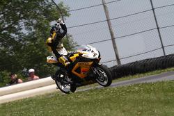 #1 Richie Morris Racing - Suzuki GSX-R600: Danny Eslick celebrates his second Daytona Sportbike win of 2010