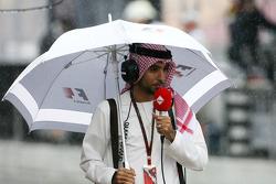 Arabic TV comentator