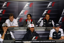 Nico Rosberg, Mercedes GP, Norbert Haug, Mercedes, Motorsport chief, Monisha Kaltenborn, Managing director BMW sauber F1 Team, Kamui Kobayashi, BMW Sauber F1 Team, Adam Parr, Williams F1 Team, Nico Hulkenberg, Williams F1 Team