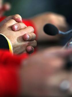 The hands of Sebastian Vettel, Red Bull Racing