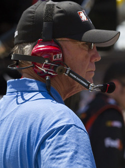 Coach Joe Gibbs watches race action
