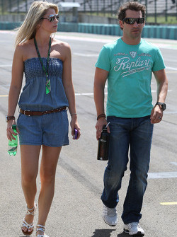 Isabell Reis girlfriend of Timo Glock, Virgin Racing, Timo Glock, Virgin Racing