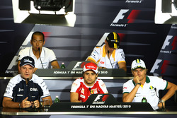 Sakon Yamamoto, Hispania Racing F1 Team, Robert Kubica, Renault F1 Team, Heikki Kovalainen, Lotus F1 Team, Rubens Barrichello, Williams F1 Team and Felipe Massa, Scuderia Ferrari