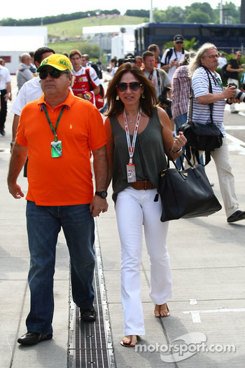 Father and mother of Felipe Massa, Scuderia Ferrari