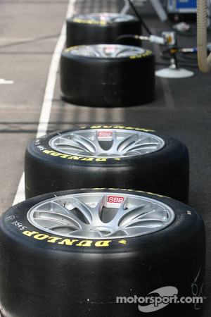 Dunlop tires ready to go