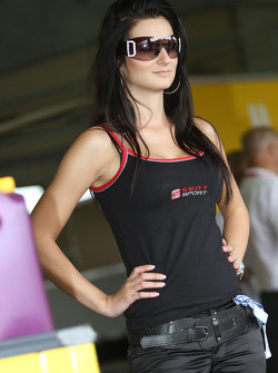 Seat girl in the paddock