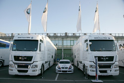 Team Trucks of BMW Team RBM in the paddock