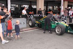 KV Racing Technology garage area