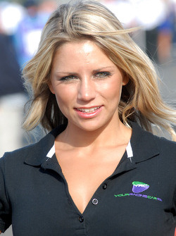 Phil Glew's grid girl