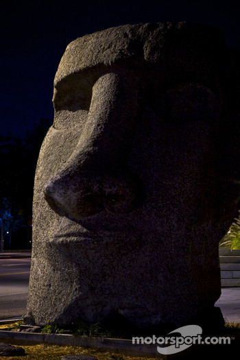 Easter Island statue in Old Montréal
