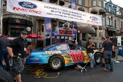 Pit stop competition at the Ford Racing Festival on Crescent Street
