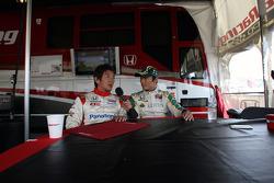 Hideki Mutoh, Newman/Haas/Lanigan Racing and Takuma Sato, KV Racing Technology