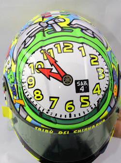 A special helmet for Valentino Rossi, Fiat Yamaha Team