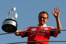 Ferrari team celebration: Stefano Domenicali, Ferrari General Director