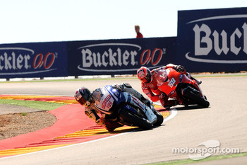 Jorge Lorenzo, Fiat Yamaha Team and Nicky Hayden, Ducati Marlboro Team