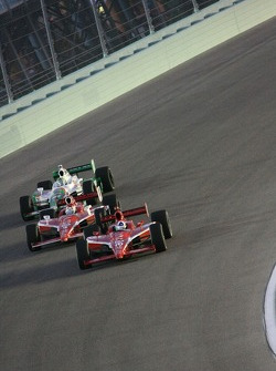 Dario Franchitti, Target Chip Ganassi Racing, Scott Dixon, Target Chip Ganassi Racing, Tony Kanaan, Andretti Autosport