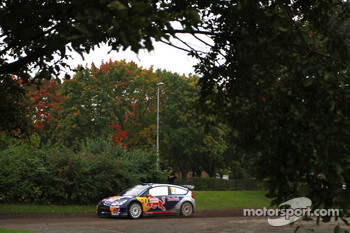 Kimi Raikkonen and Kaj Lindstrom, Citron C4 WRC, Citron Junior Team