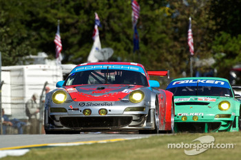 #44 Flying Lizard Motorsports Porsche 911 GT3 RSR: Darren Law, Seth Neiman, Marco Holzer
