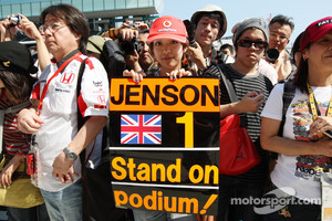 A fan of Jenson Button, McLaren Mercedes