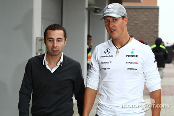 Nicolas Todt, Drivers manager with Michael Schumacher, Mercedes GP