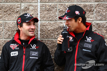 Timo Glock, Virgin Racing and Lucas di Grassi, Virgin Racing