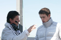 Paul di Resta, Team HWA AMG Mercedes C-Klasse wit his engineer Axel Rudolph