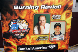 Asphalt Chef event: Burning Ravioli, Mario Batali and Jimmie Johnson