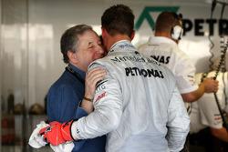 Jean Todt, FIA president, Michael Schumacher, Mercedes GP