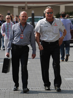 Ron Dennis, McLaren, Team Principal, Chairman, Mansour Ojeh, Commercial Director of the TAG McLaren