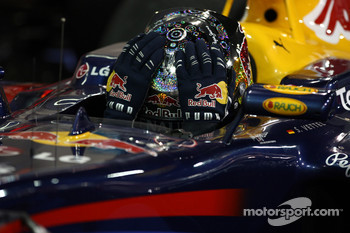 Race winner and 2010 Formula One World Champion Sebastian Vettel, Red Bull Racing