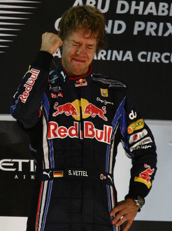 Podium: race winner and 2010 Formula One World Champion Sebastian Vettel, Red Bull Racing, celebrates