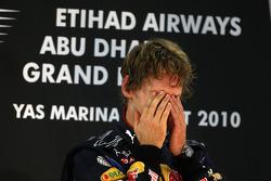 Podium: race winner and 2010 Formula One World Champion Sebastian Vettel, Red Bull Racing, celebrates