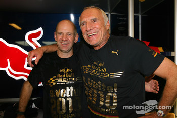 Adrian Newey, Red Bull Racing, Technical Operations Director and Dietrich Mateschitz, Owner of Red Bull