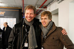 ROC organiser Frederik Johnson and Sebastian Vettel