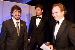 FIA Formula One World Championship: Fernando Alonso, Ferrari, Mark Webber, Red Bull and Red Bull Team Principal Christian Horner
