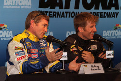 Bobby Labonte and Jamie McMurray answer media questions