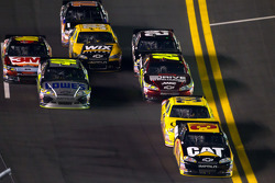 Jeff Burton, Richard Childress Racing Chevrolet leads the field