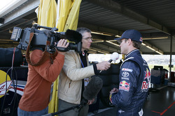 Kasey Kahne, Red Bull Racing Team Toyota gives a Interview with Servus TV
