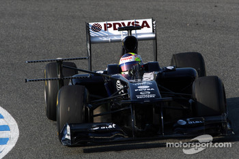 Pastor Maldonado, Williams, running a measuring device